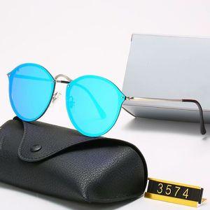 Driving Brand Design Classic Round Polarized Eyewear Metal Gold Frame Glasses Men Women Mirror Sunglasses Polaroid Glass Lens Er6