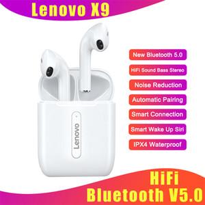 Lenovo X9 HiFi TWS Bluetooth наушники V5.0 гарнитура Сенсорное управление Спорт TWS Earbuds Sweatproof-вкладыши для iphone 12 мини хз макс 11