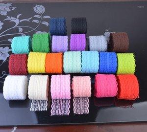 21colors 10 m (45 mm) Cinta de encaje Doble artesanía Bordado Malla de malla Tela Tela Cinta DIY Falda de costura Accesorios1