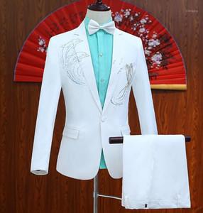 Corus pasta broca fatos de casamento golfinhos para homens blazer meninos marca mariage terns singer magro masculino mais recente casaco de calho