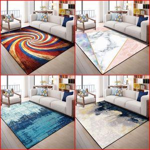 Современная простота ковер геометрический напечатанный ретро прямоугольник диван коврик спальня прицела DIY Tapete Hot Sale 28 8WN4 K2