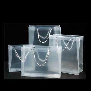 واضح pvc هدية أكياس هدية متجمد البلاستيك شفافة التعبئة حقائب حزب الحسنات الأزياء مقاومة للماء الساخن بيع 1 88GC G2