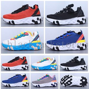 React Element 87 Undercover kids Running Shoes For Designer Sneakers Sports Mens Trainer Shoes Sail Light Bone Royal Tint V5AB6
