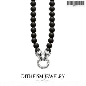 Beads Necklace Carrier 10mm Obsidian, 2018 New Fashion 925 Sterling Silver Jewelry European Punk Gift For Men Women Boy Girls J190530