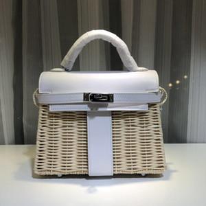 Hot Vente de qualité supérieure en cuir véritable femme seule épaule Span Bambou Weave Paquet Portable Kylie