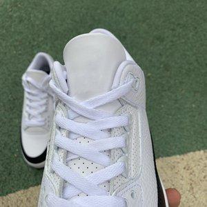 New autentico 3 Unc 3s esterna Sneakers 2020 Retro Frammento da uomo e scarpe basket femminile bianco nero con la scatola originale Dimensioni 36-47,5