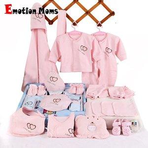 Emotion Moms 22 штурма новорожденных Детские девушки одежда 0-6 месяцев младенцев детская одежда девушка мальчики одежда ребенка подарок набор без коробки 201127