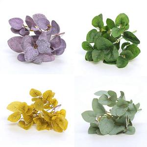 Plastic Artificial Leaf Bunch Simulation Money Leaf Fake Flower Green Plant Decorative Eucalyptus Home Decoration