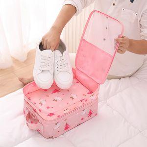saco de armazenamento de sapato grande capacidade viagem dustproof impermeável tampa tração vara mala tampa da sapata de acabamento portátil