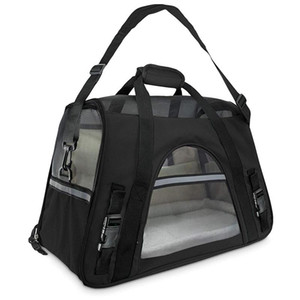 Travel Carriers For With Bag Dogs Air-Plane Fleece Cats On-Board Carrying Seat Soft-Sided Under And Bolster Bed Poect