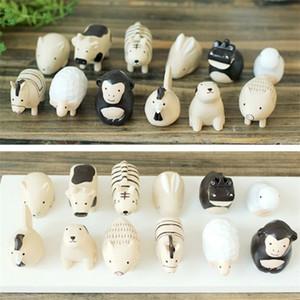 12 Pièces / set animal Figures Décoration artificielle Ornements Décoration Accessoires miniature Figurines ElimElim 1007