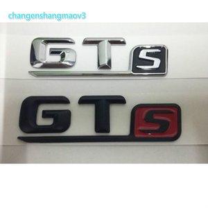 For Mercedes Benz AMG Chrome Black Red Letters GTS Words GT S Car Trunk Lids Lip Front Badge Emblem Emblems Badges Sticker Decal