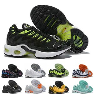 Nike Air TN Plus Детские мальчиков девочек обувь Детская обувь для малышей Белый Красный Розовый Кристалл белые тренеры города носка кроссовки кроссовки размер 28-35
