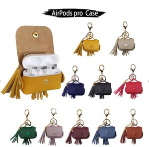 Classic lattice earphone protective case hanging buckle corded earphone bag