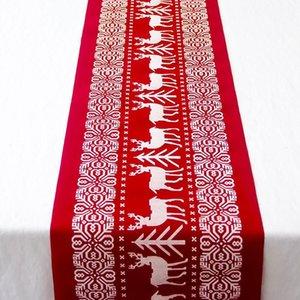 Disposición de mesa Imprimir Decoración de Navidad Mantel Largo #ew BY2D