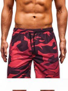 Mens Casual Shorts Summer New Style Mens Casual Shorts Camouflage Imprimé Europe et Amérique Fitness Sports