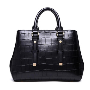 design handbags crocodile pattern split leather totes bags Europe and the United States shoulder bag women purse