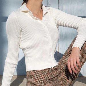 Unuth slim ragazze bomba camicie in cotone 2020 autunno moda signore vintage corta camicette a maglia casual donne chic tops1