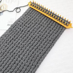 Rectangle DIY Knitting Loom Schal Pullover Hut Schal Stitching Knit Handgemachte Socken-Hut-Schal-Craft Weaving flicht Werkzeug 26 / 36cm