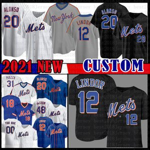 12 Francisco Lindor Pete Alonso Jacob Degrom Darryl Çilek Forması Noah Syndergaard Yoenis Cespedes Michael Conforto Gooden Mike Piazza