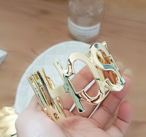 European and American fashion big letter model exaggerated bracelet-style light female jewelry big bracelet open female jewelry free shippin