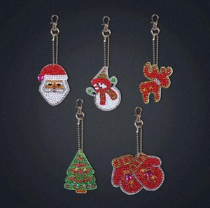 DIY Keychains Jewelry Key Ring Gifts Full Drill Special-Shape Diamond Painting Keychain Christmas Decor Bag Pendant