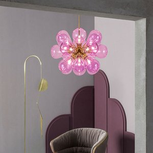 2020 Nordic Glass Bubbles Parlor Led Pendant Light Loft Deco Hotel Hall Bedroom Dining Room Suspension Lamp