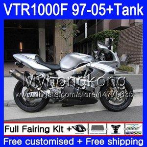 Honda SuperHawk VTR1000F için Vücut + Tank VTR1000F 97 98 02 Stok Silver 03 04 05 56HM.108 VTR1000 F VTR 1000 F 1000F 1997 2002 2003 2004 2005 PERAKTİK