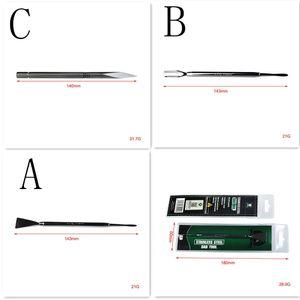 Original LTQ Vapor DAB Tool Stainless Steel 3 Types Dabber Tools 140mm Metal Titanium Nail for Wax Vaporizer Dry Herb Atomizer Vape Pen