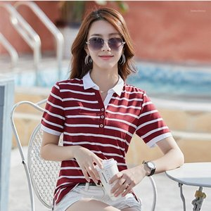 High Quality New Striped Cotton Plus Size Shirts Women 2020 Spring Casual Short Sleeve Cotton Tops Female Breathable1