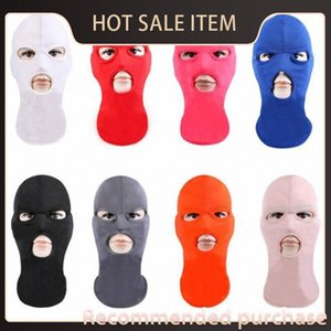 Máscaras sombrero Fa Fa esquí Tres 3 Hole invierno caliente máscara de la máscara Máscaras térmica de punto estiramiento de la cubierta completa Pkk4 # Fa sombrero de esquí Tres Hole 3 Calentar Wint Cflb