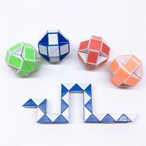 어린이 Brinquedo 선물을위한 새로운 매직 큐브 장난감 (24 개) 섹션 다양한 매직 눈금자 큐브 뱀 트위스트 퍼즐 교육 장난감