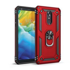 cassa del telefono Armatura Kickstand ProtectivFor per iPhone 12 nota 20 lg stylo caso Stand 5 Alcatel 3V LV3 K40 K50 antiurto Anello