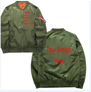 Özel Fotoğraf Metin Takımı Adı Kendi Tasarımınız Baskılı Özelleştirilmiş Askeri Motosiklet Bombacı Ceket Özel Pilot Ceket 201104