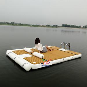 3x2x0.2m Şişme Yüzer Ada Swim Platformu ve Su Şişme Yüzer Platformu