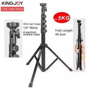 KINGJOY 1.55m Light Stand Stativ Max Load 5kg für Photo Studio Fresnel Glühlampenlicht TV-Station Studio Fotostative
