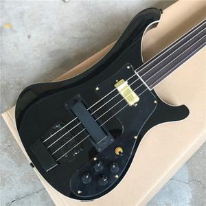 Пользовательские фабрики Direct Black Ricken 4003-4 String Electric Bass гитара с бесплатной доставкой