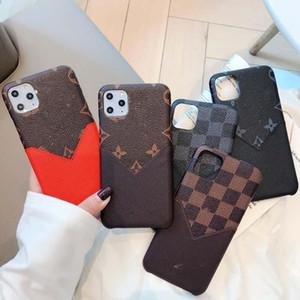 2021 lv.LOUISVitton.Capas de telefone para iphone 11 pro max 7 8 mais x xs max xr moda pu couro com saco de cartão frete grátis