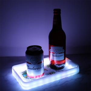 Rolling Tepsi Glow Sigara Tepsi 800mAh LED Işık Glowtray Plastik ABS Tütün Sigara Şarj edilebilir Tepsileri Depolama Plakalı Çerezler Paketi