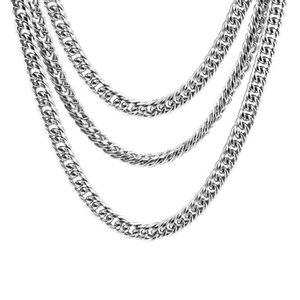 100% нержавеющей стали цепи змейки изготовления ювелирных изделий 7мм металла двойной петли кабеля цепи мужские ювелирные изделия верхнего качества оптовой 5шт