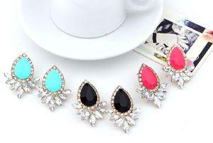 Earrings for Woman Statement Fashion Jewelry Brand Design Ear Vintage Bohemian Korean Earring Big Gemstone Drop Crystal Earrings