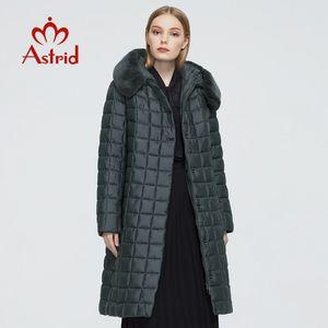 Astrid New Winter Women's coat women long warm parka Plaid Jacket with Rabbit fur hood High Quality female clothing 9211 201019
