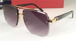 Novo design de moda óculos de sol 8200981 metais meio frame corte quadrado de qualidade superior lente best-seller estilo uv 400 óculos de proteção