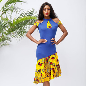African dresses for women fashion Halter Dress Sexy Slim dress African sexy party dresses