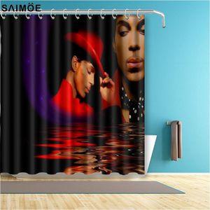 Fashion Prince Bathroom Curtain Music Singer Waterproof Polyester Fabric Bath Shower Curtain Home Decor Shower Accessories