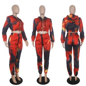 FAEh New Women Tracksuit Sport Jumpsuit Set Hooded Crop Top High Waist Pants Sportswear 2 pcs Striped Suit Sweatshirt Pants Yoga