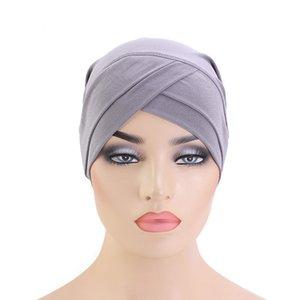 Moslemische Frauen Stretchy Hijabs Hat Turban Schal grundiert Hut Krebs Mützen Chemo Kappe Plain Hijabs Caps Ethnic Kopfbedeckung