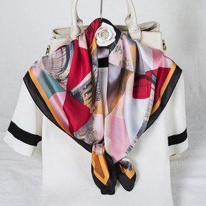 여성용 여러 가지 빛깔의 낙서 스카프 여성 스카프 Kerchief Girl Headband Bandana Shawl Wrap 다용도 액세서리