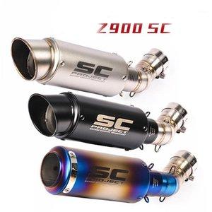 Motorradmodifiziertes Auspuffrohr Ninja900 Modifiziertes SC-Auspuffrohr für gebackene blaue mittlere Abschnitt1