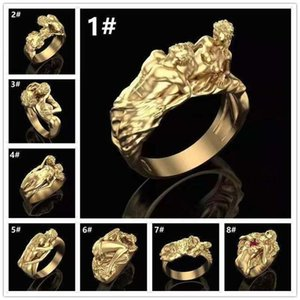Luxury Designer Jewelry Mens Rings Wedding Engagement Love Ring for Women Gold Exaggeration Fall in Love Charm Sets Hip Hop Jewlery Rapper